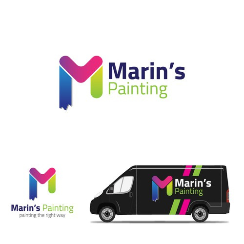 Fix logo with the title 'Marin`s painting '