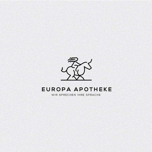 Aesthetic design with the title 'Europa Apotheke'
