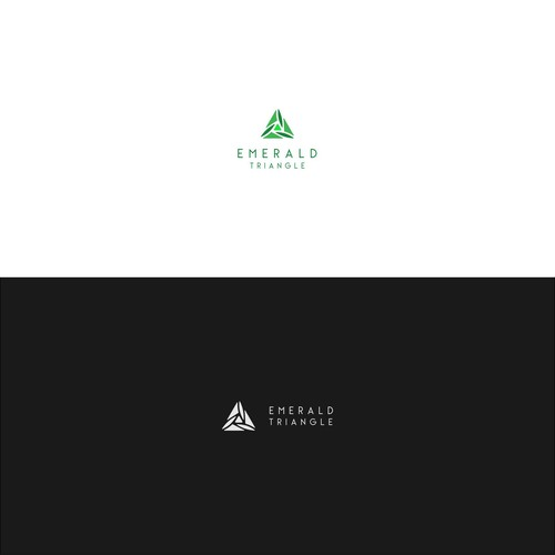 Emerald logo with the title 'Geometric triangle organic logo concept for cannibis'