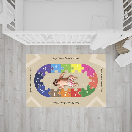 Baby blanket design with the title 'Design Baby milestone blanket'