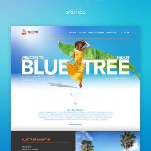 Holiday website with the title 'Blue Tree Phuket Website '