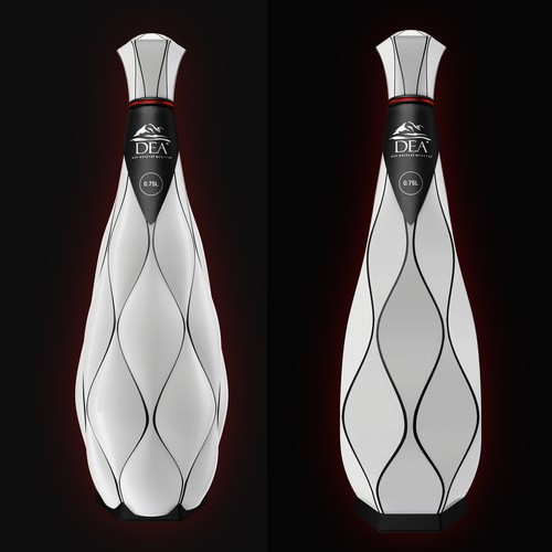 Manufacturing design with the title '3D  bottle design'