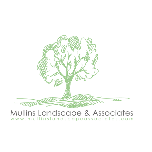 Sketch logo with the title 'hand-drawn sketchy landscape'