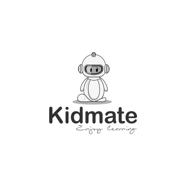 Enjoy logo with the title 'creative Fun logo for educational robot for kids'