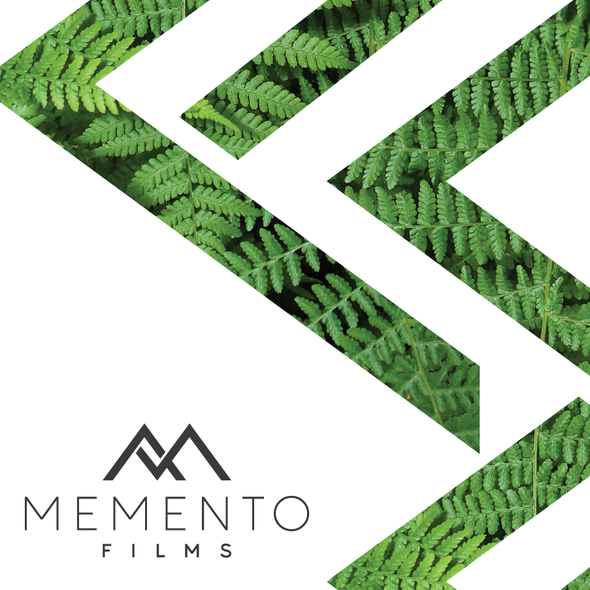 Wedding photography logo with the title 'Monogram concept for MEMENTO Films'
