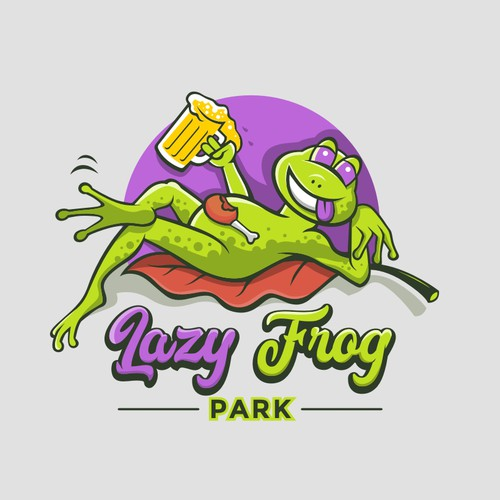 Lazy logo with the title 'Lazy Frog Park'