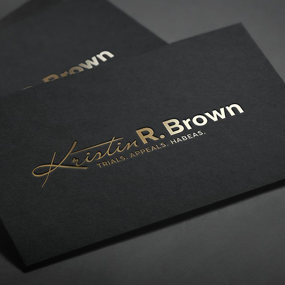 Golden design with the title 'Logo for law firm'