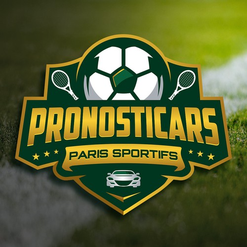Electric car logo with the title 'Pronosticars'