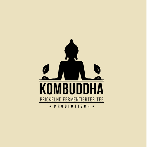 Buddha design with the title 'Logo Kombuddha'