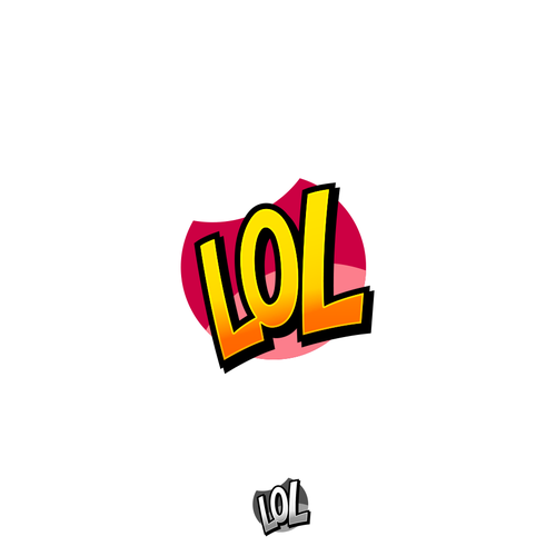 Laughing logo with the title 'LOL Logo'