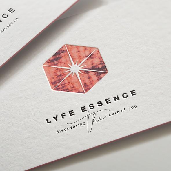 Mood design with the title 'lyfe essence logo '