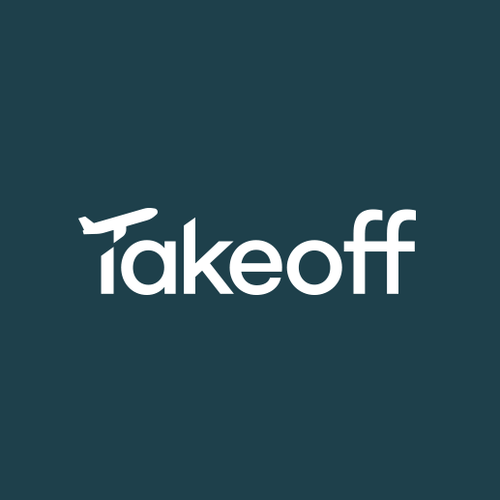 Plane design with the title 'Takeoff'