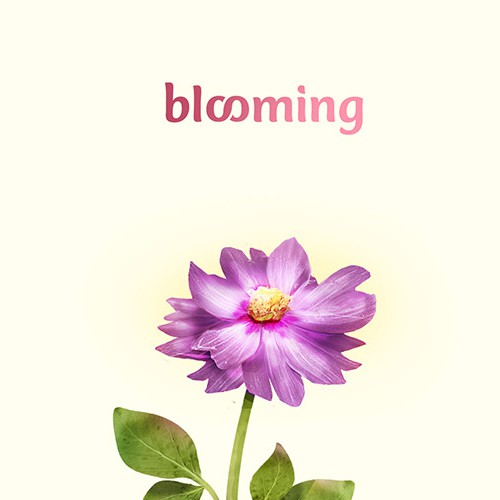 Bloom design with the title 'Illustration For Blooming'