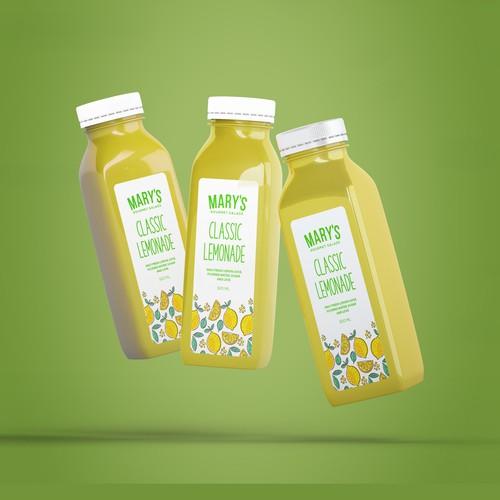 Lemonade label with the title 'Classic lemonade label'