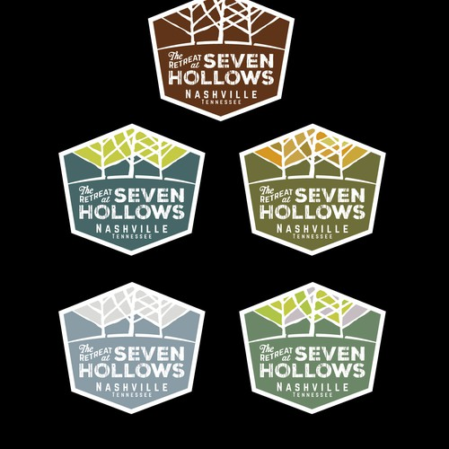 Travel brand with the title 'Rustic Modern Camp logo '
