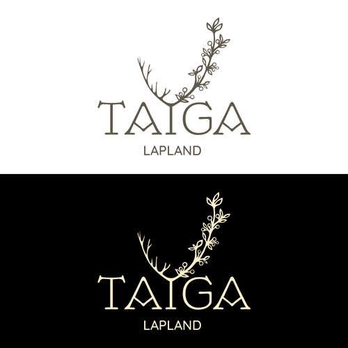 Taiga logo with the title 'Natural cosmetic from Lapland'
