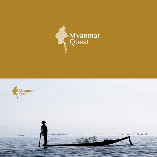 Quest design with the title 'Logo for Myanmar Quest'