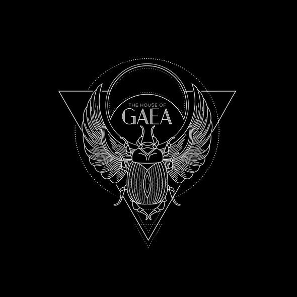 Beetle logo with the title 'Gaea logo'