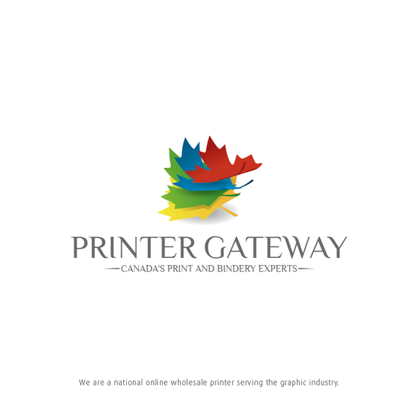 Canadian leaf logo with the title 'Printer Getaway'