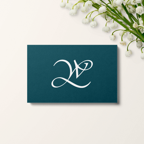 Handwritten brand with the title 'Logo concept for textile products'