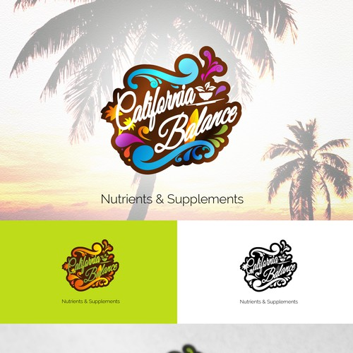 Supplement brand with the title 'Logo for California Balance Nutrients'
