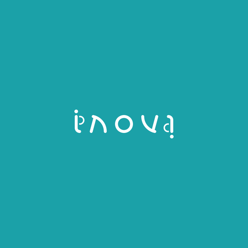 Bed design with the title 'Ambigram logo for innovative furniture: Inova'