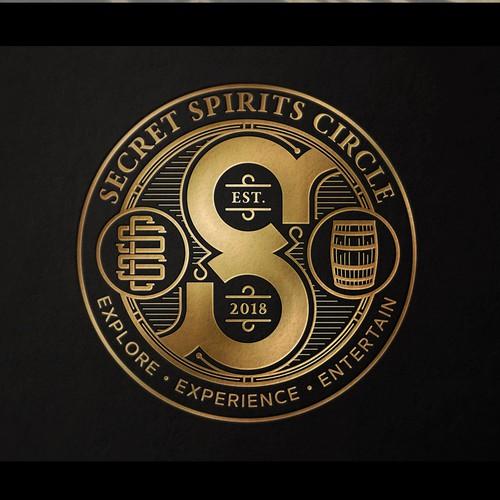 Nostalgic design with the title 'Secret Spirits Circle'