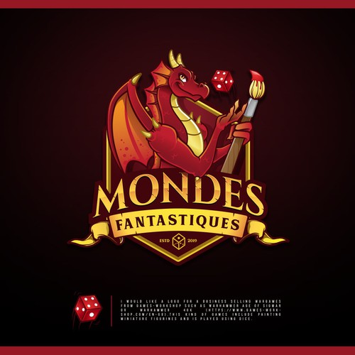 Dice logo with the title 'Mondes-Fantastiques'