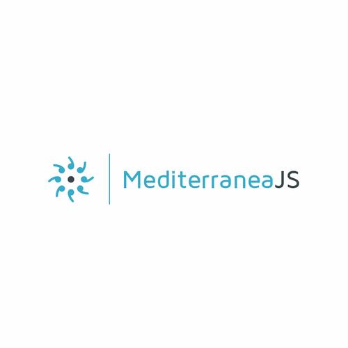 JavaScript design with the title 'MediterraneaJS'