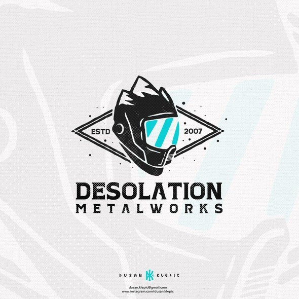 Rally design with the title 'Desolation Metalworks'