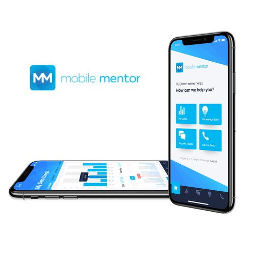 Ticket design with the title 'Mobile Mentor App Design'