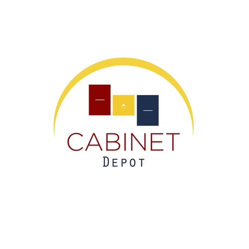 Depot logo with the title 'Fun Logo for Cabinet Depot'