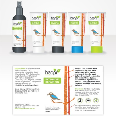 Happy Skincare Label Design