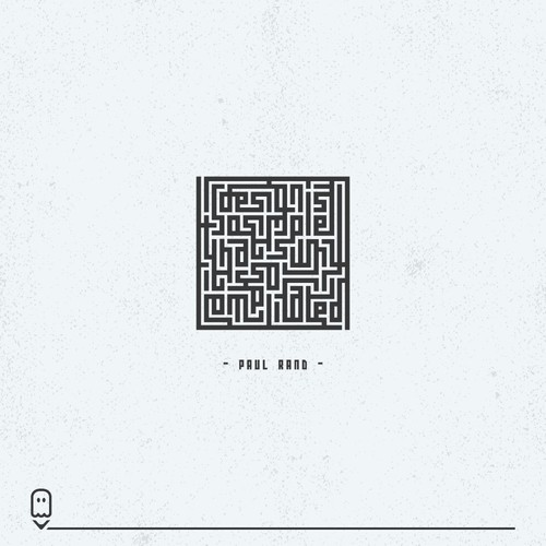 Maze design with the title 'illustration for 99d community contest'