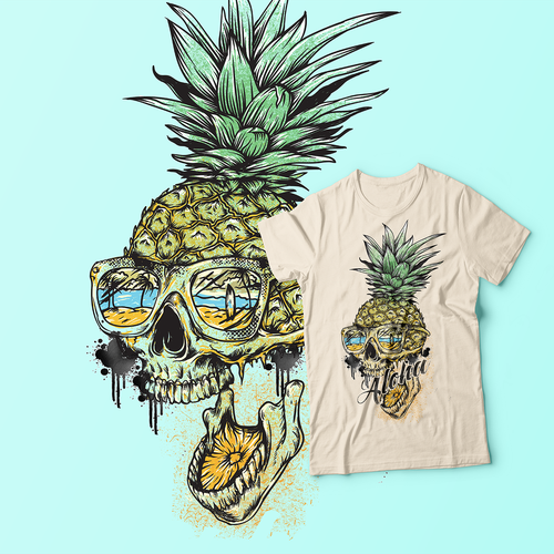 Pineapple design with the title 'Pineapple Skull '