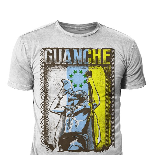 Warrior t-shirt with the title 'GUANCHE'