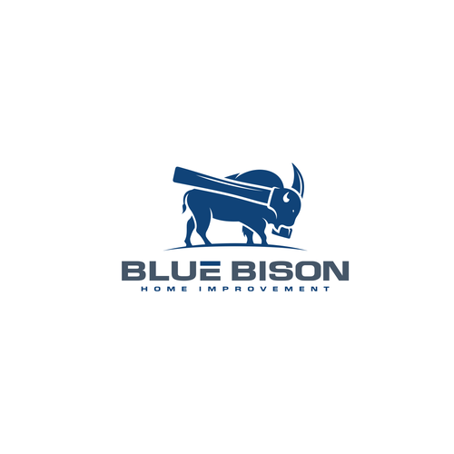Home improvement logo with the title 'Blue Bison'