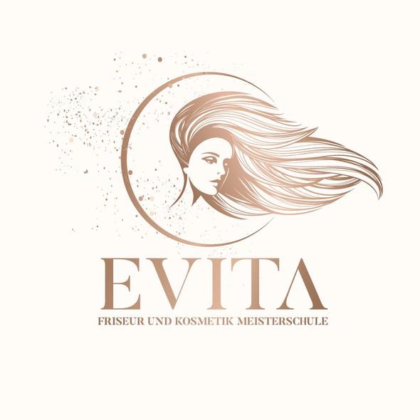 Beauty salon logo with the title 'Cosmetics & Beauty illustrative logo concept'