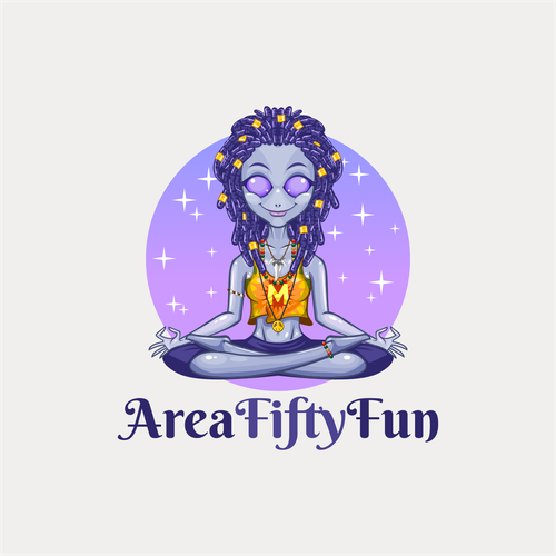 Stretching logo with the title 'Area Fifty Fun'