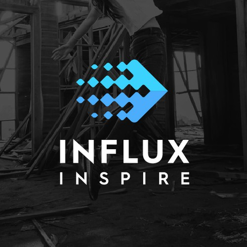 Flow logo with the title 'Logo for Influx Inspire'
