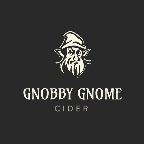 Beverage logo with the title 'Gnobby Gnome'