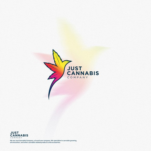 Weed design with the title 'Just Cannabis'