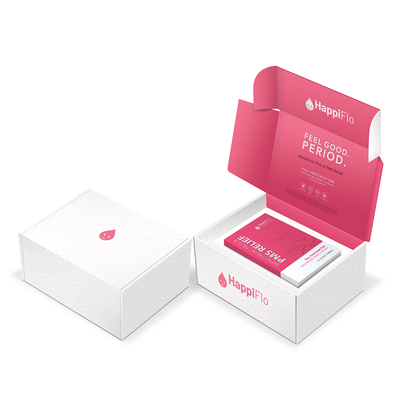 Happiflo shipping box package design