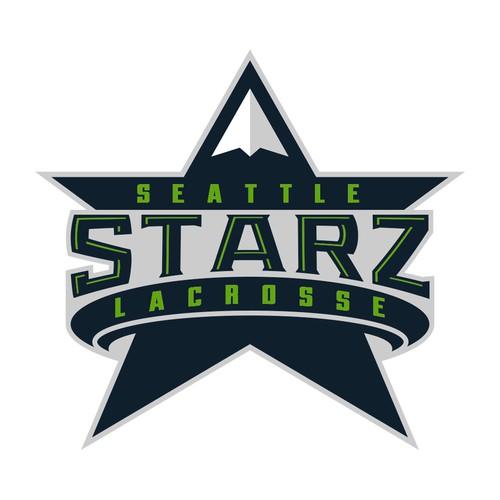 Seattle design with the title 'Seattle Starz Mountain'