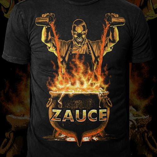 Lava design with the title 'zauce'