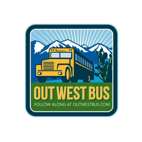 Shuttle service logo with the title 'Out West Bus'