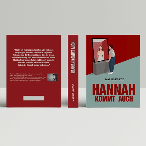 Attractive book cover with the title 'Hannah Kommt Auch'