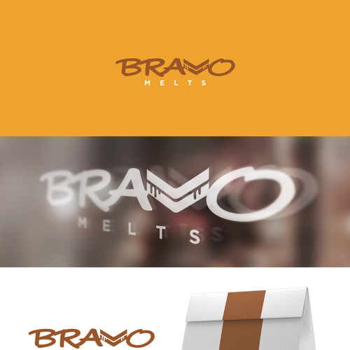 Sandwich design with the title 'Bravo Melts Logo'
