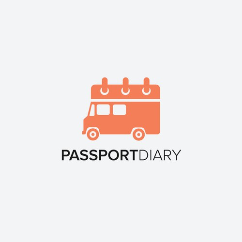 Calendar design with the title 'Passport Diary'