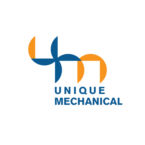 HVAC logo with the title 'unique mechanical'